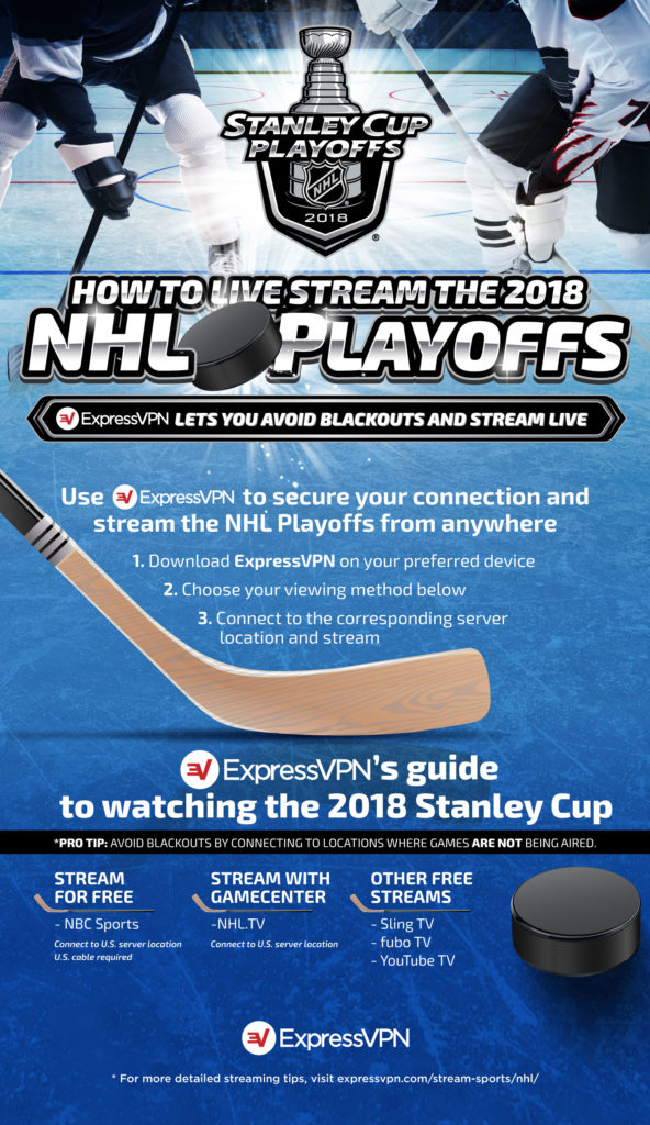 How to live stream the NHL playoffs with Express VPN