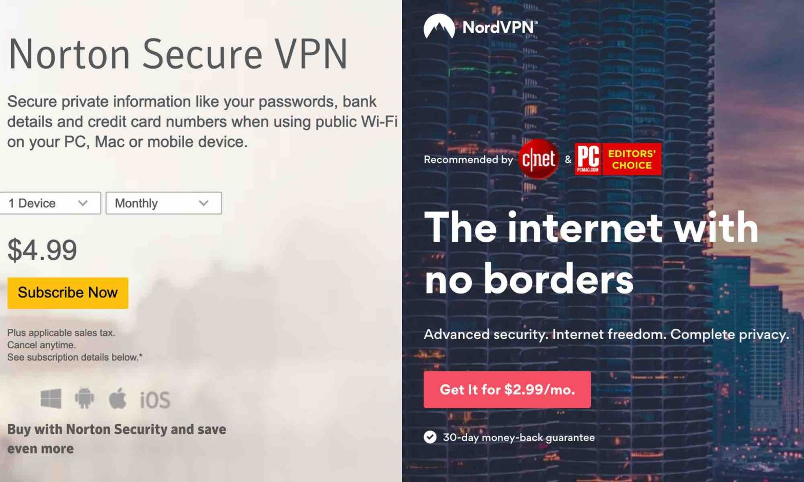 Norton VPN vs NordVPN