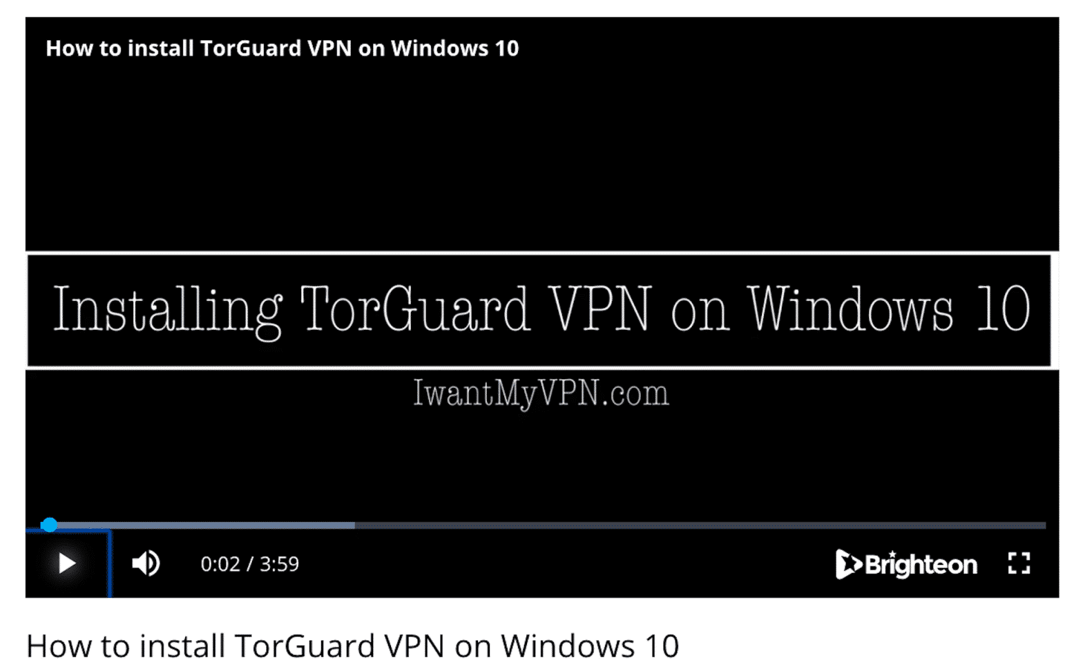 Installing TorGuard VPN on Windows 10
