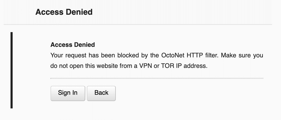 What is OctoNet HTTP filter?
