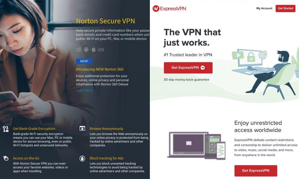 Norton VPN vs ExpressVPN