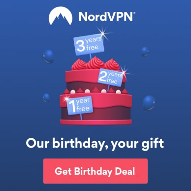 You get the gift on NordVPN's birthday.