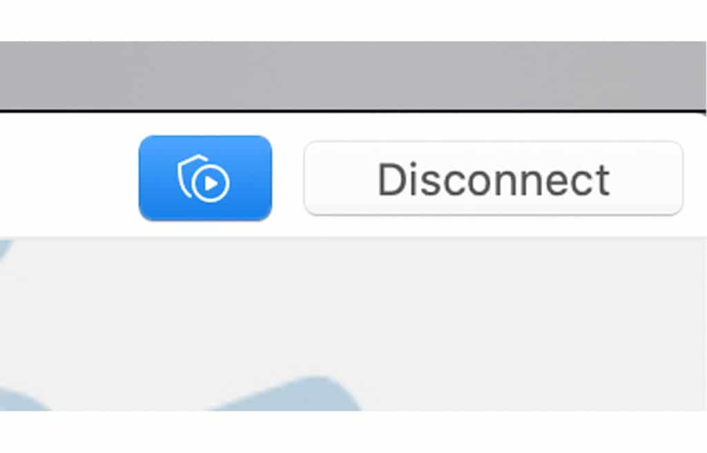 """Use the """"Disconnect"""" button to stop using NordVPN."""