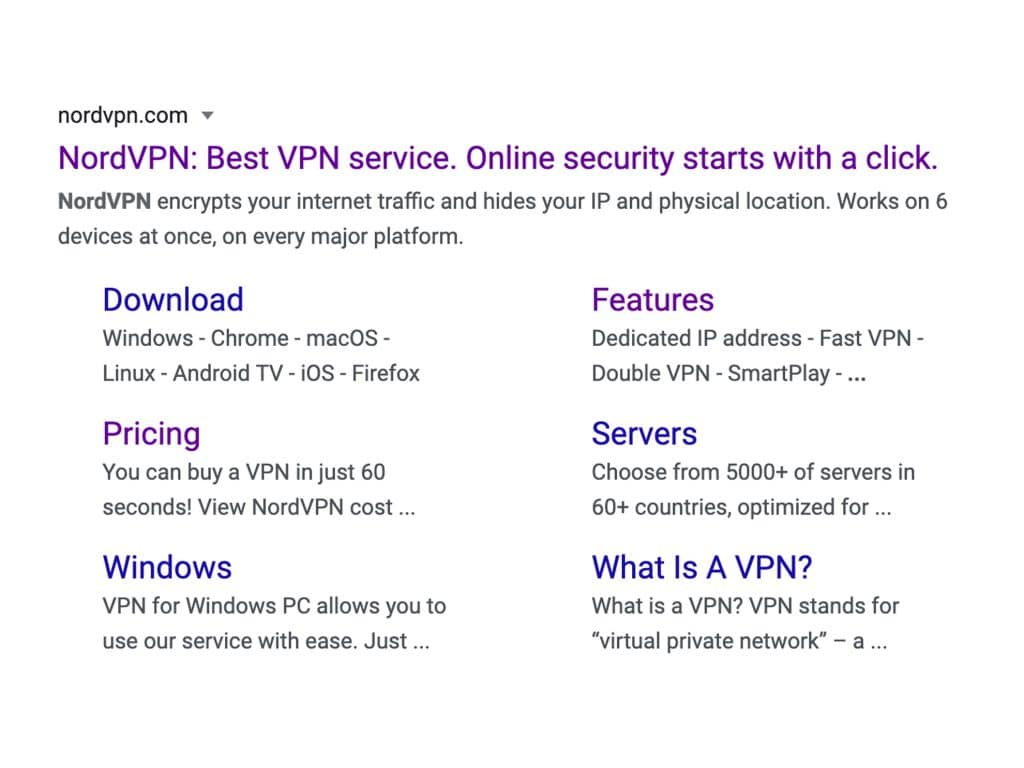 Here's what NordVPN tells you through Google.