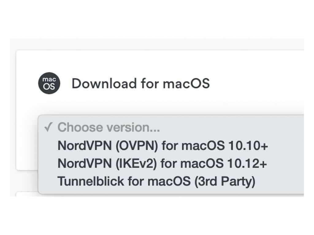 Download NordVPN for macOS.