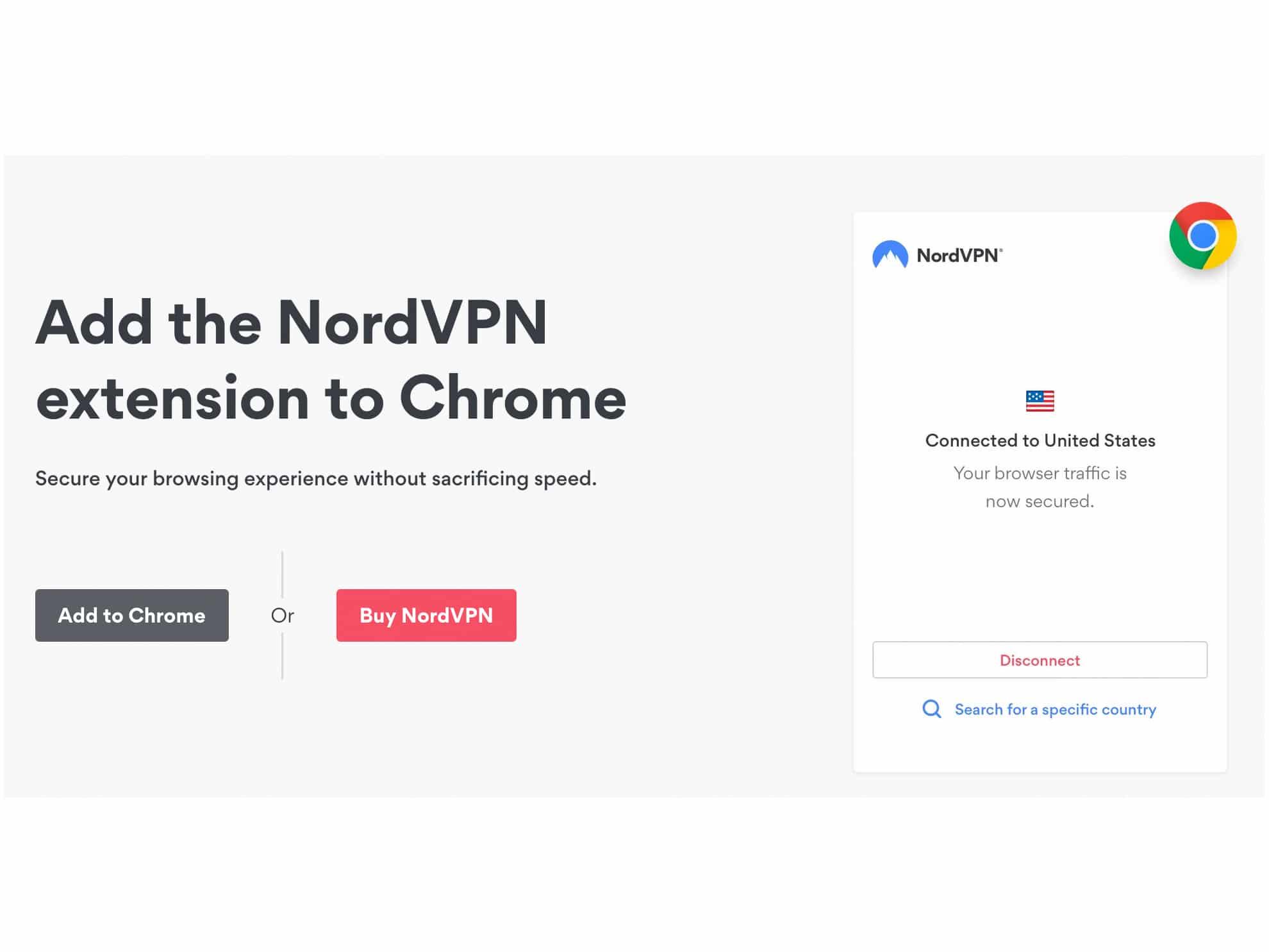 NordVPN Chrome extension