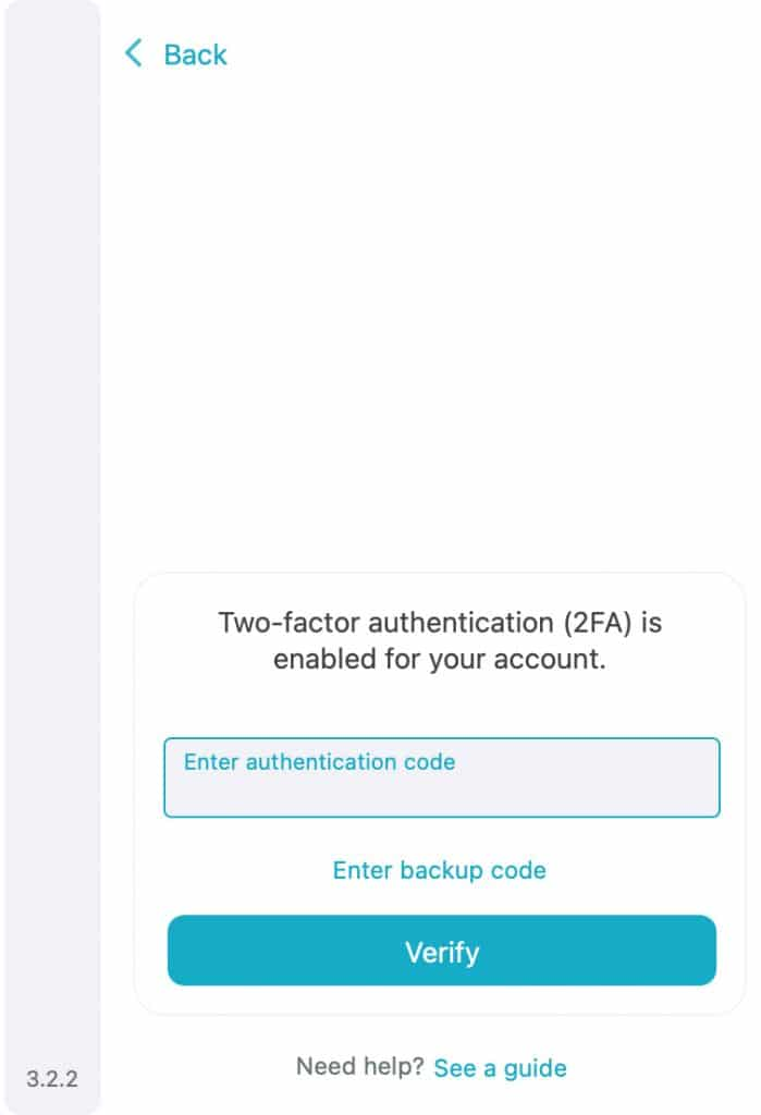 Enter your Surfshark VPN 2FA code to proceed.