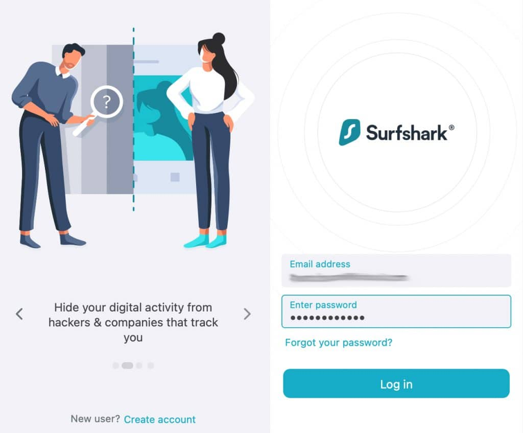 Use your Surfshark account credentials to log in.