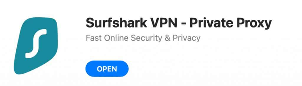 """Click """"Open"""" to start Surfshark VPN for the first time."""