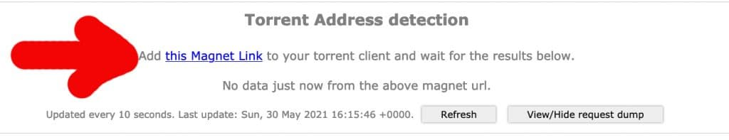 Add the qBittorrent link tostart your test.