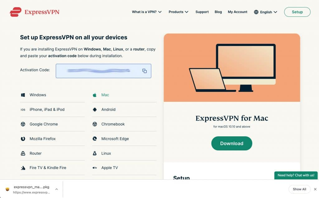 Set up ExpressVPN on all your devices.