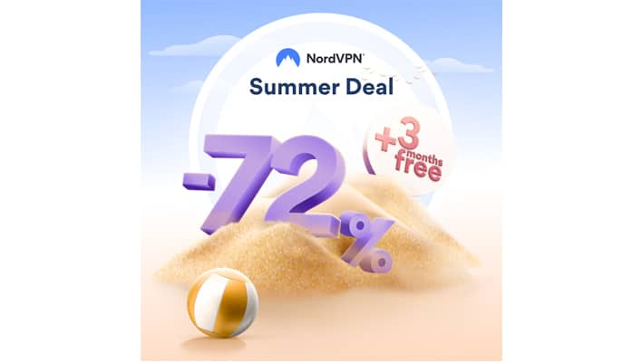 Get three months of NordVPN free when you sign up for their 2-year deal!